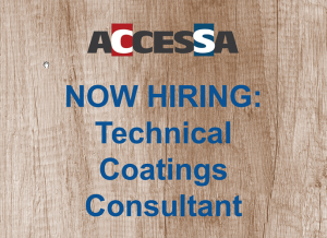 Now Hiring Technical Coatings Consultant