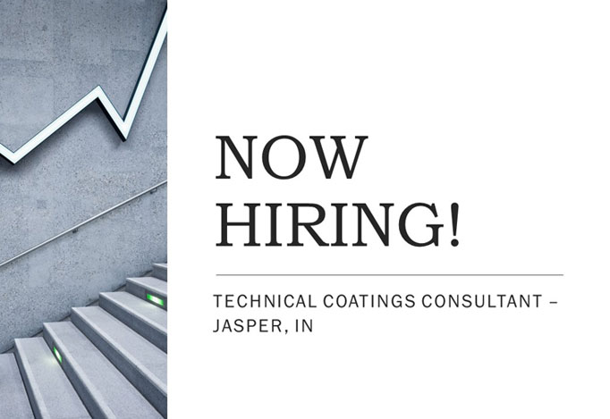 Now Hiring Jasper Indiana Technical Coatings Consultant